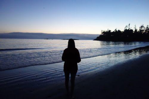 sunset sea evening