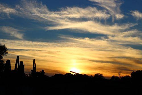 sunset siberia sky