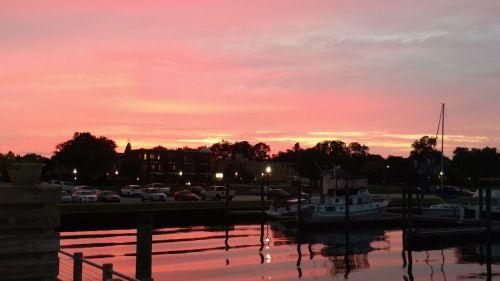 sunset new bern waterfront