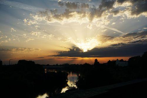 sunset aschaffenburg main