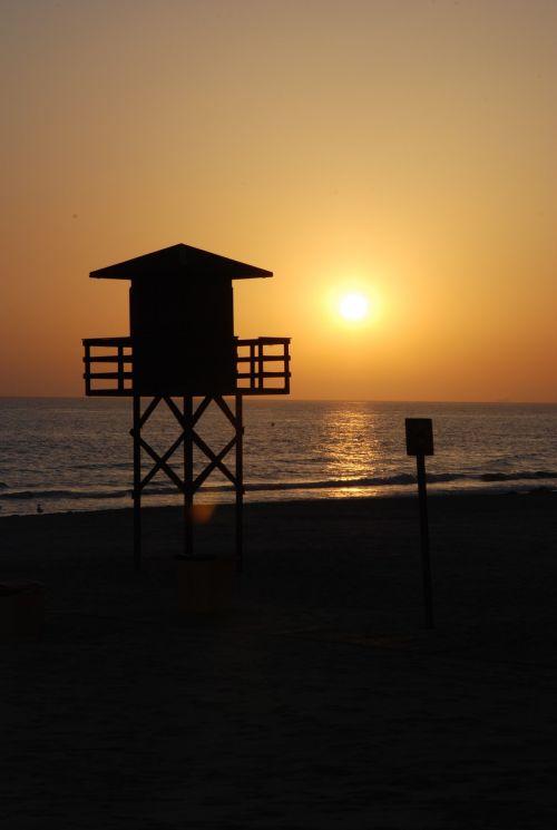 sunset cadiz beach