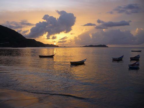 sunset rio caribbean venezuela