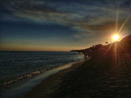 sunset hdr puglia