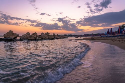 sunset goodbye beach