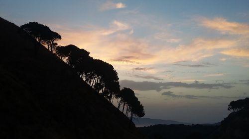 sunset reggio calabria italy