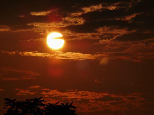 sunset evening evening sun