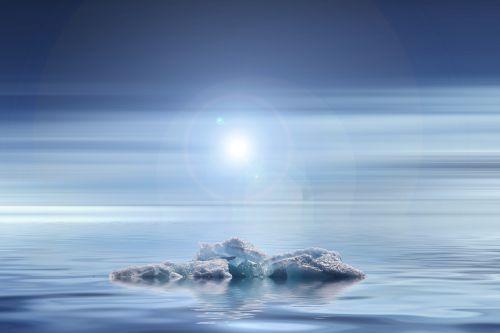 sunset climate change iceberg