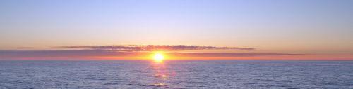 sunset midnight sun sea