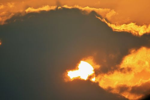sunset glow sun