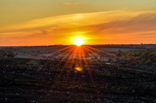 sunset rays evening