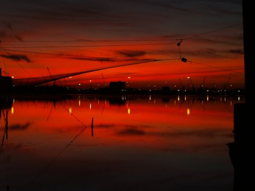 sunset skyline backlight