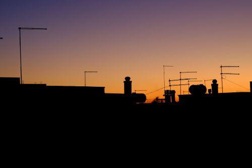 sunset antennas orange
