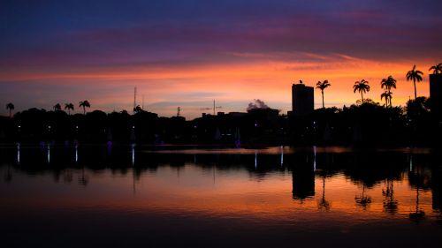 sunset dawn widescreen