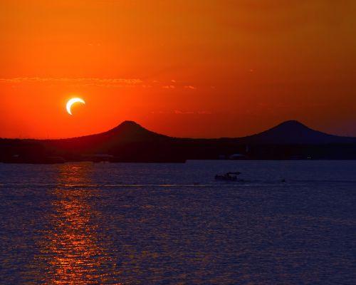 sunset water dawn