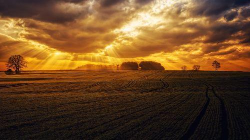 sunset panorama nature