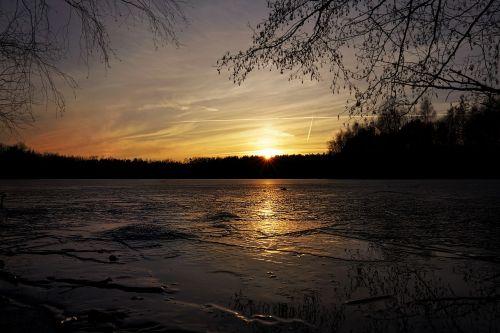 sunset dusk nature