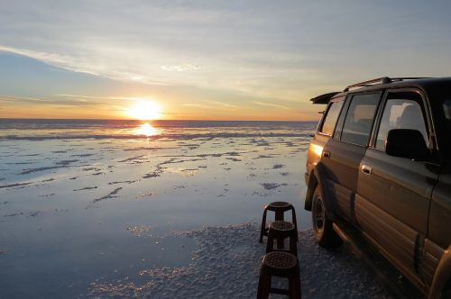 sunset water salar