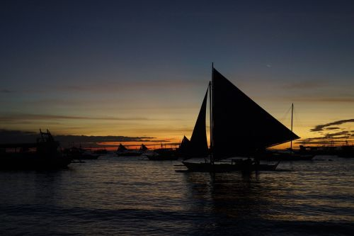 sunset boracay ocean