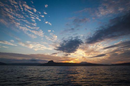sunset twilight water