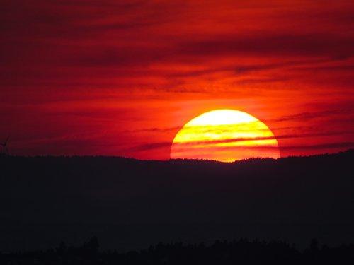 sunset  dusk  sun