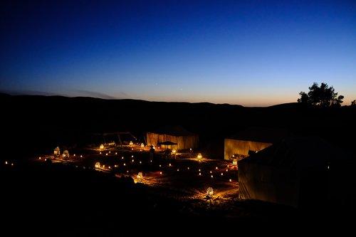 sunset  camp  camping