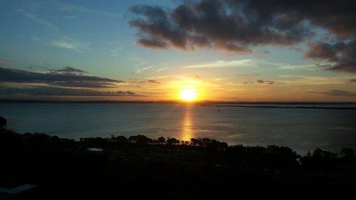 sunset  dawn  sol