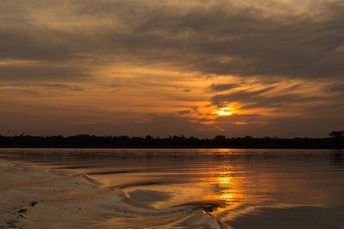 sunset  landscape  evening sun
