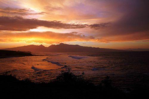 sunset hawaii afterglow