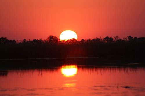 sunset  africa  botswana