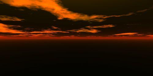 sunset computer digital