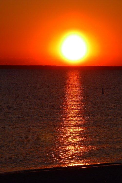 sunset  sea  cape cod