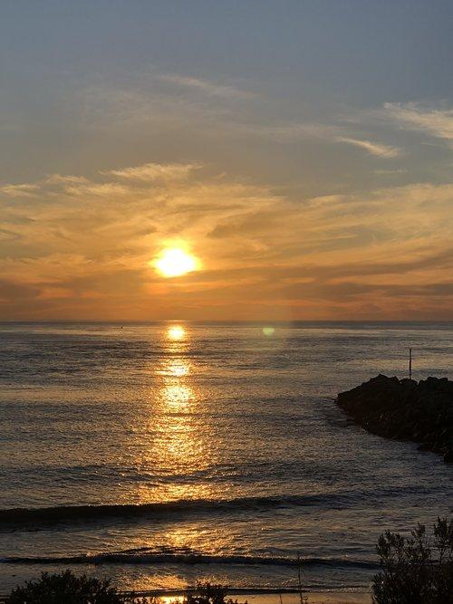 sunset  coastline  scenery