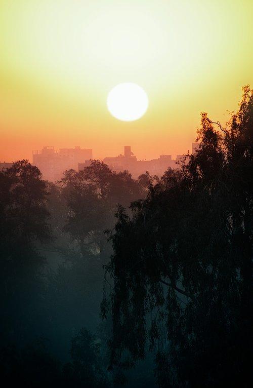 sunset  cairo  city
