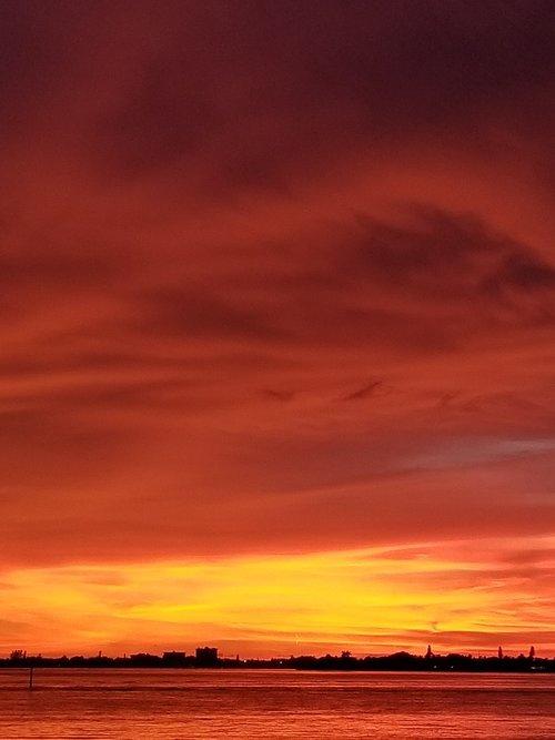 sunset  sarasota bay  gulf of mexico