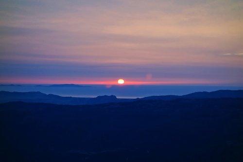 sunset  sun  skies