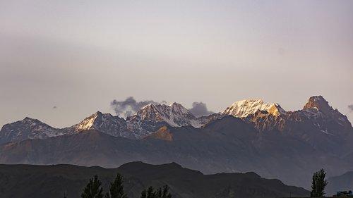 sunset  mountains  gb