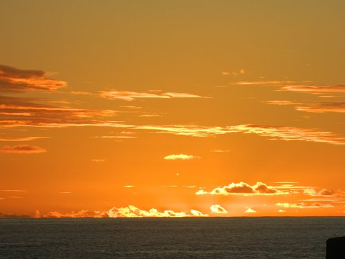 sunset  rapa nui  horizon