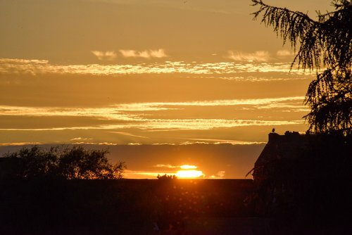 sunset  twilight  landscape