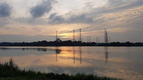sunset  singapore  kranji