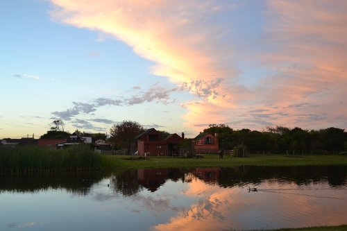sunset  uruguay  landscape