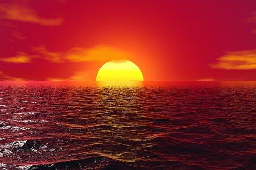 sunset  reflection  water
