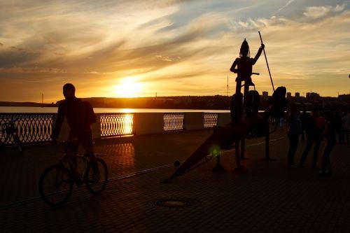 sunset silhouette sakulptura