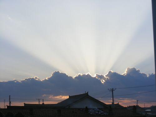 sunset sun beams beams