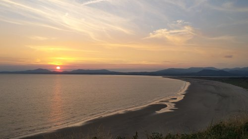 sunset  wales  llanfair