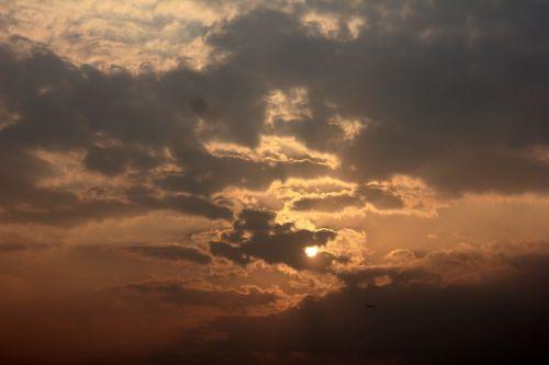 sunset serene clouds