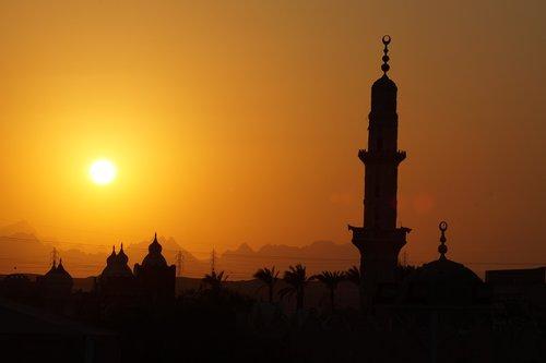sunset  egypt  landscape