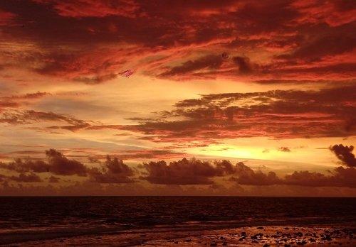 sunset  galle  sri lanka