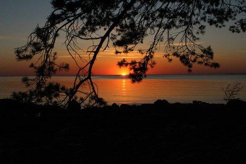 sunset  estonia  sky