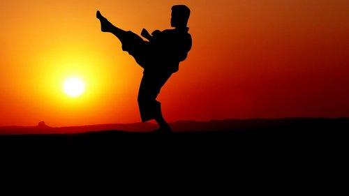 sunset  karate  kata