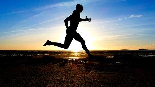 sunset  sport  jogging